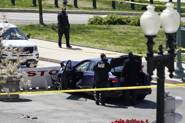 Acessos ao Capitólio são fechados; motorista joga carro contra polícia