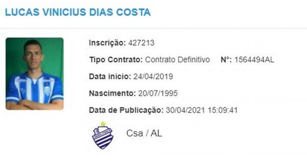 Zagueiro Lucas Dias fala sobre período no futebol paulista e do retorno ao CSA