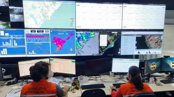 Defesa Civil alerta para continuidade das chuvas e ventania nesta quarta (12)