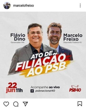 Flávio Dino, governador do Maranhão, e Marcelo Freixo vão se filiar ao PSB