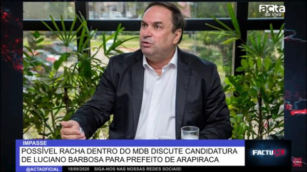 FACTUAL: RACHA NO MDB DE ARAPIRACA